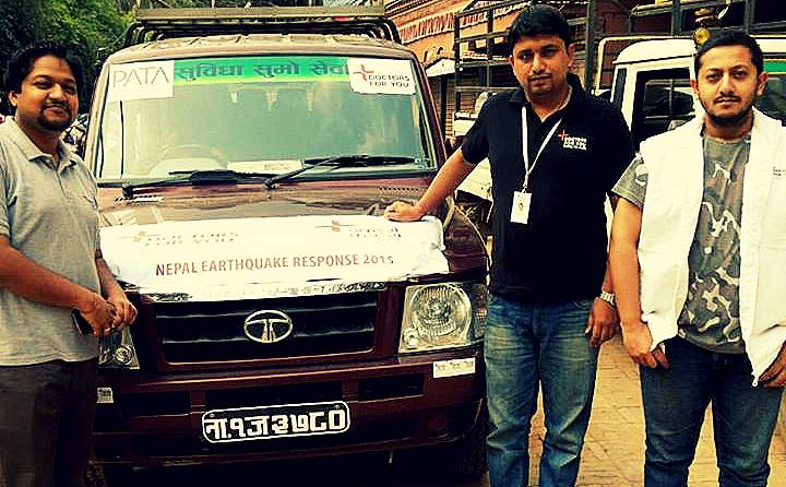 <p><strong>DFY team at Kathmandu supporting Ministry of health &amp; Population in strengthening damaged health facilities.</strong></p>