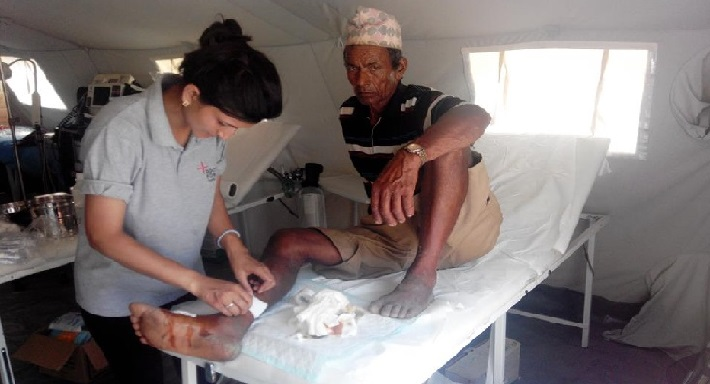 <p><strong>Transitional Hospital in Nepal Earthquake 2015</strong></p>
