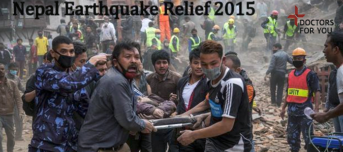 <p>Doctors For You Nepal Earthquake Relief work 2015</p>
