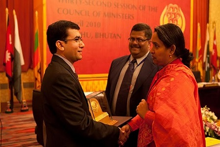 SAARC Youth Award for Outstanding Contribution to Humanitarian works in the aftermath of Natural Disaster, 2009